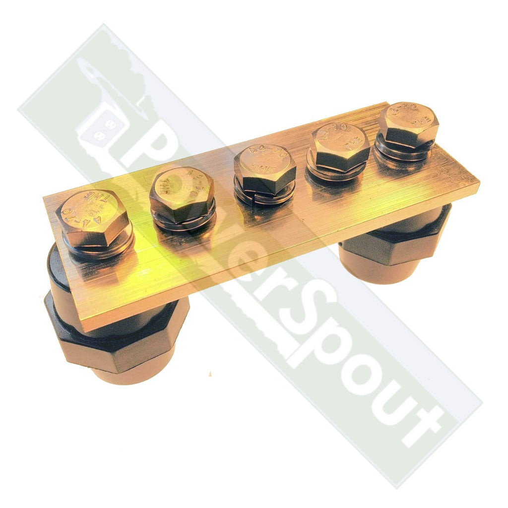 Chrome Plated Brass Bus Bar with Standoffs