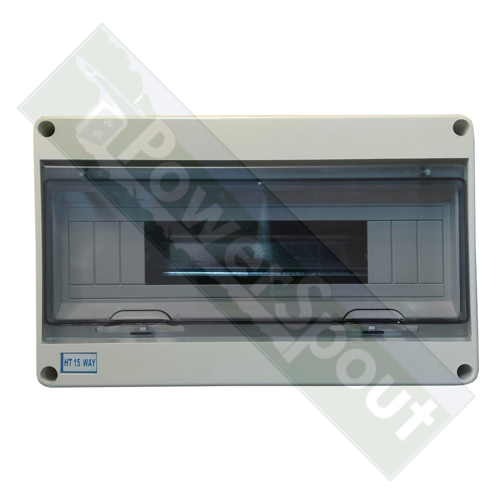 15-way Weatherproof (IP65) DIN Rail Enclosure