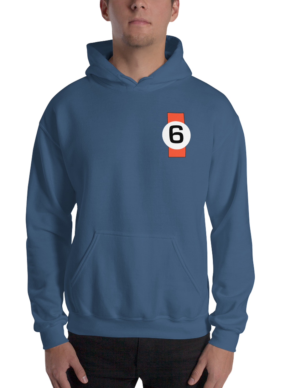 gulf gt40 ford le mans inspired hoodie