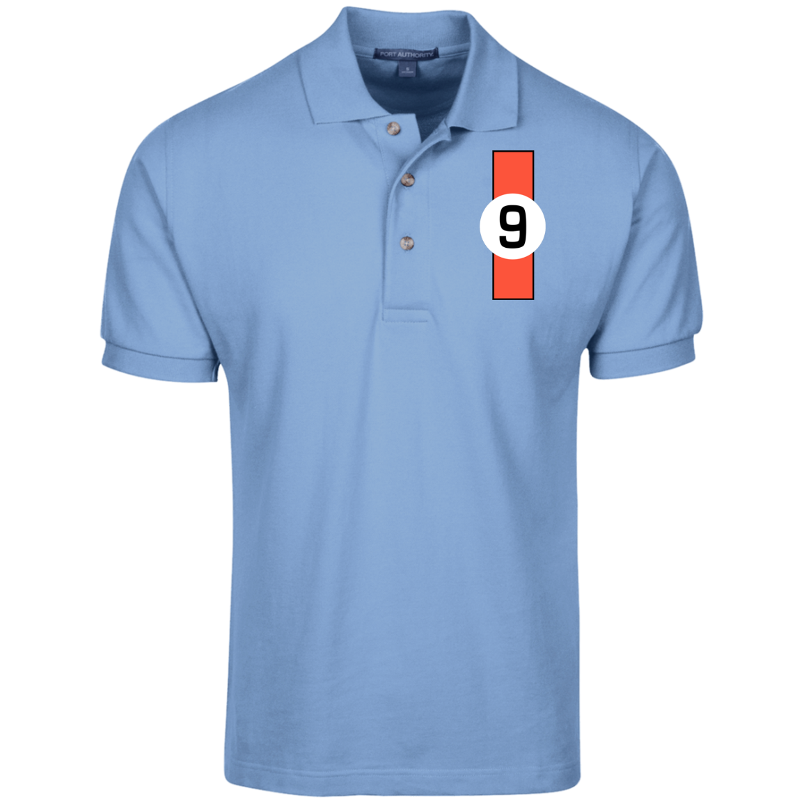 gt40 ford 1968 le mans winner inspired design polo shirt gulf colours
