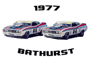 1977 Ford XC Falcon GS500 1-2 Finish: Bathurst Legend Series Unisex T-Shirt