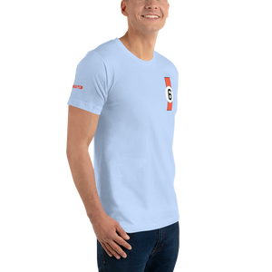 gt40 ford 1969 le mans winner inspired design t shirt gulf colours