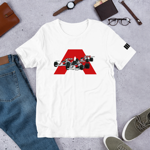 Senna prost Lauda Mclaren legends t shirt design