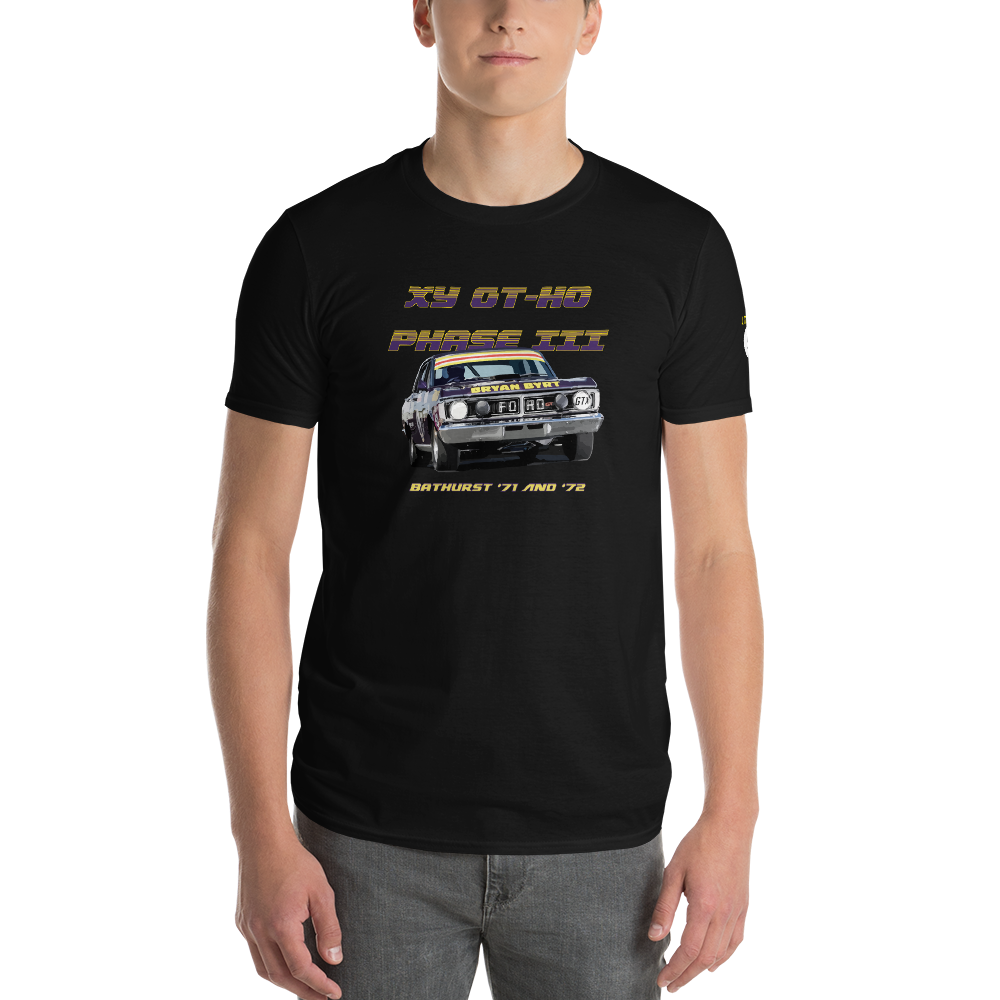 1971 1972 xy ford falcon gtho phase 111 bathurst second place phile barnes bob skelton j french t shirt