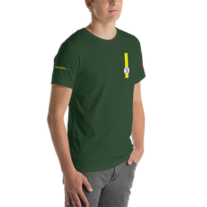 This design is inspired by Team Lotus driver Jim Clark, who won the Formula One world championship in 1963 and 1965.