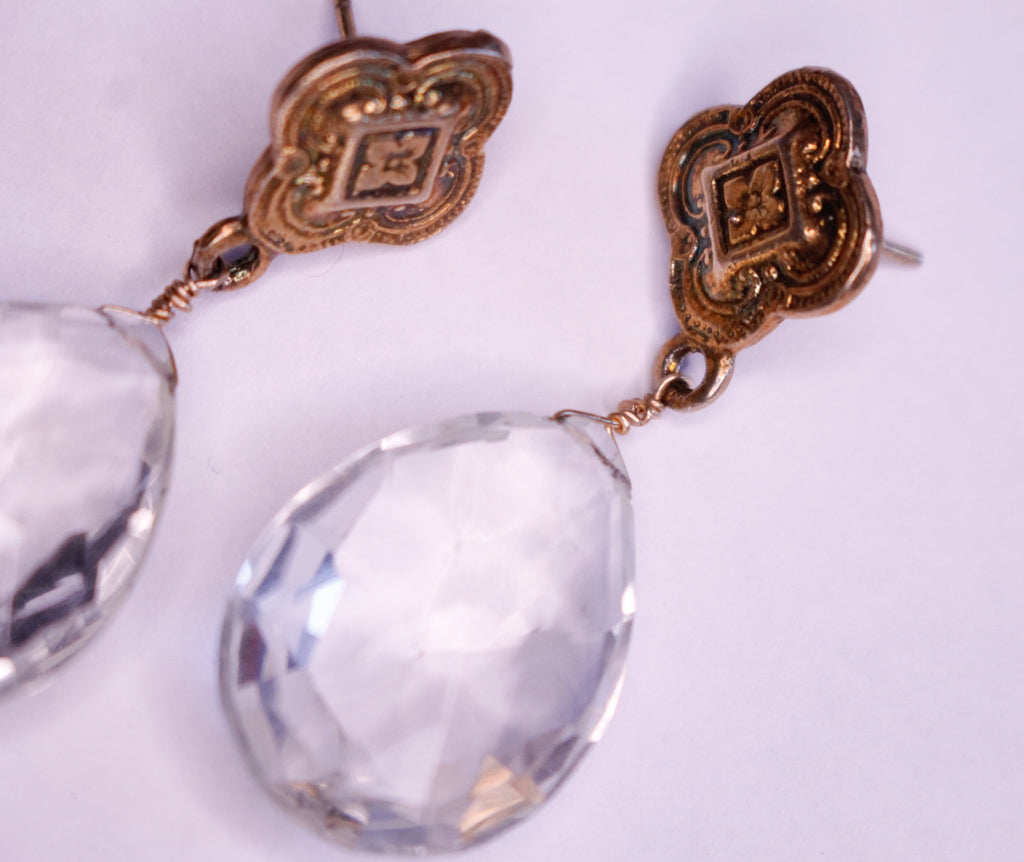 Crystal Quatrefoil Earrings