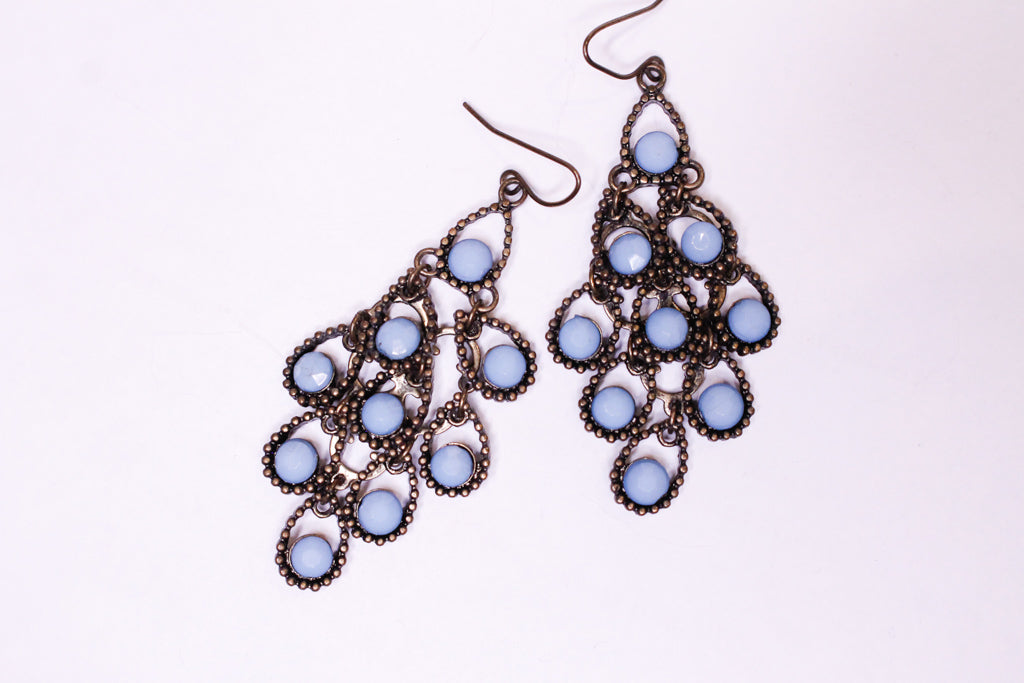 Turquoise Multi Drop Earrings