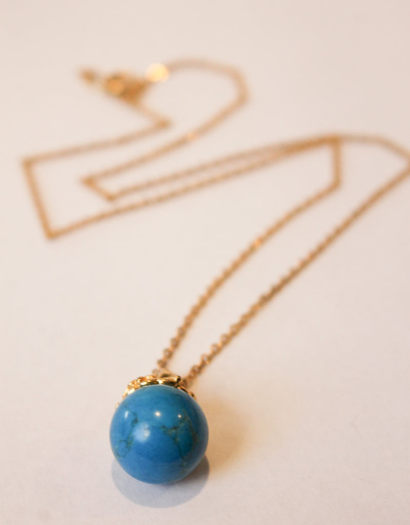 Cobalt Drop Necklace