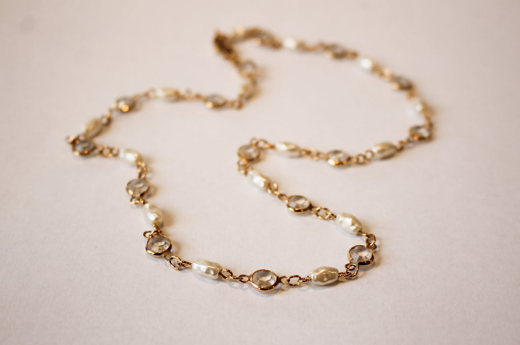Pearl and Crystal Chain