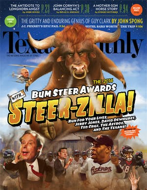 Cover of Texas Monthly January 2014