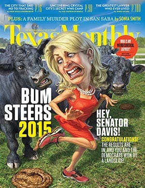 Cover of Texas Monthly January 2015