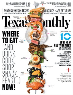 Cover of Texas Monthly March 2014