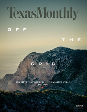 Cover of Texas Monthly April 2018