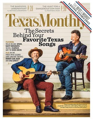 Cover of Texas Monthly July 2015