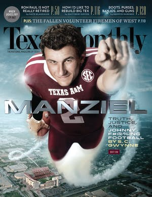 Cover of Texas Monthly September 2013