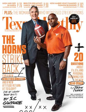 Cover of Texas Monthly September 2014