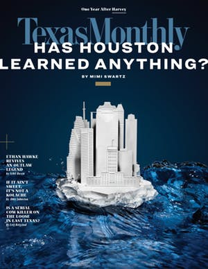 Cover of Texas Monthly September 2018