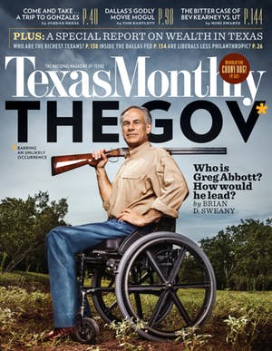 Cover of Texas Monthly October 2013