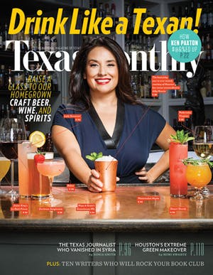 Cover of Texas Monthly October 2015