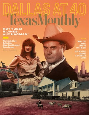 Cover of Texas Monthly October 2018