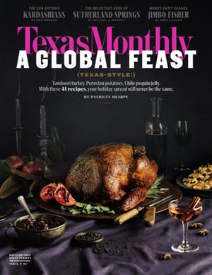 Cover of Texas Monthly November 2018
