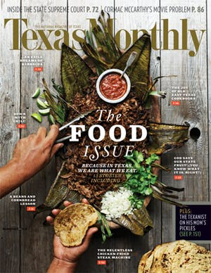 Cover of Texas Monthly December 2013