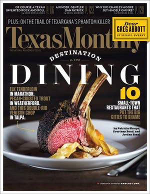 Cover of Texas Monthly December 2014