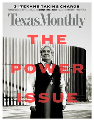 Cover of Texas Monthly December 2018