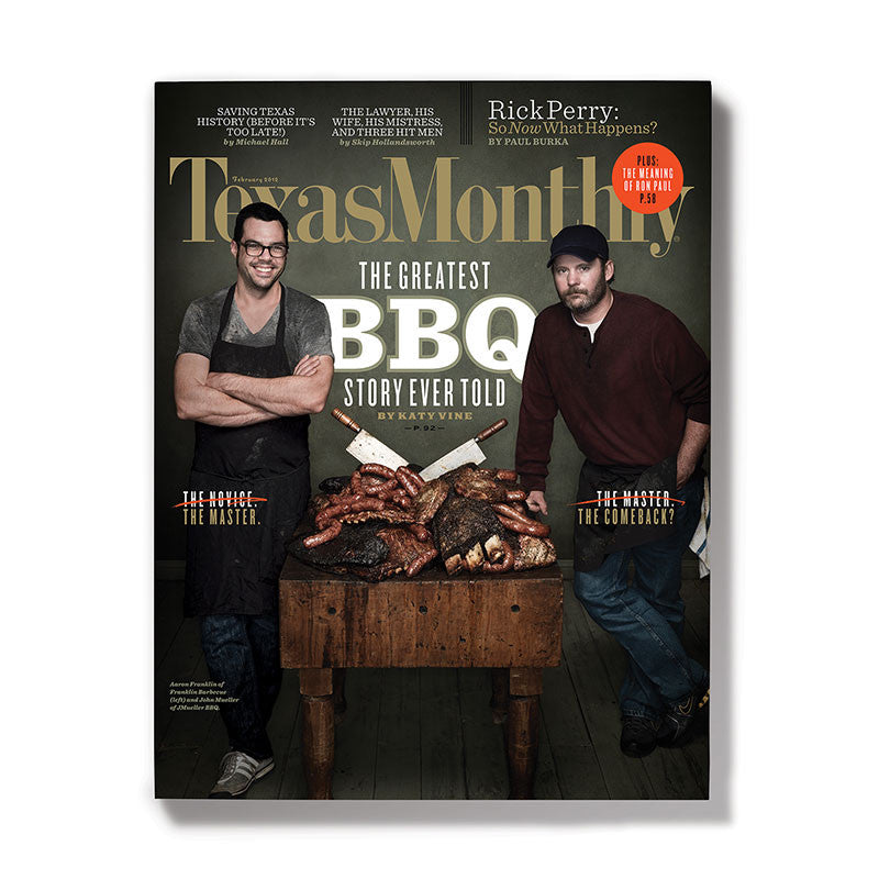 February 2012 Texas Monthly BBQ Cover