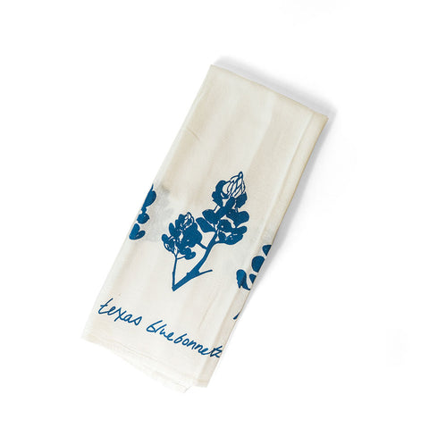 blue bonnet tea towel