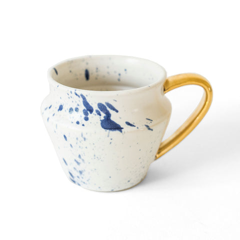Blue Splatter Coffee Mug