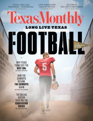 Cover of Texas Monthly September 2017