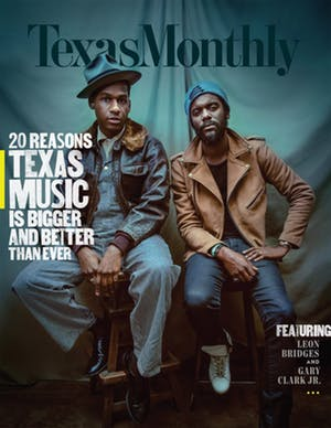 Cover of Texas Monthly November 2017