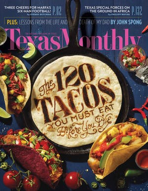Cover of Texas Monthly December 2015