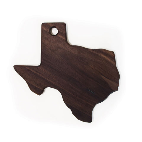 Solid Walnut Texas Cutting Board