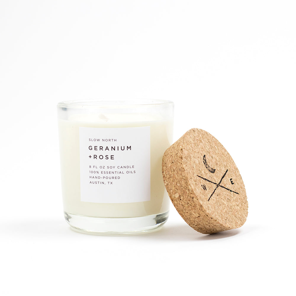 Geranium & Rose Soy Candle
