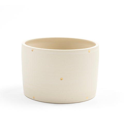 Gold Polka Dot Planter