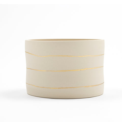 Gold Stripe Planter