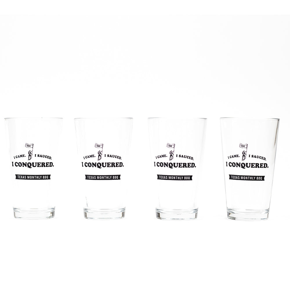 BBQ Pint Glass Set