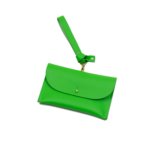 Kelly Green Wristlet