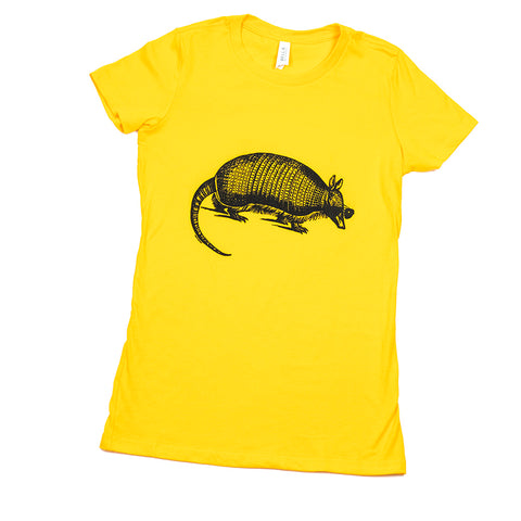Cool Armadillo Tee - Yellow