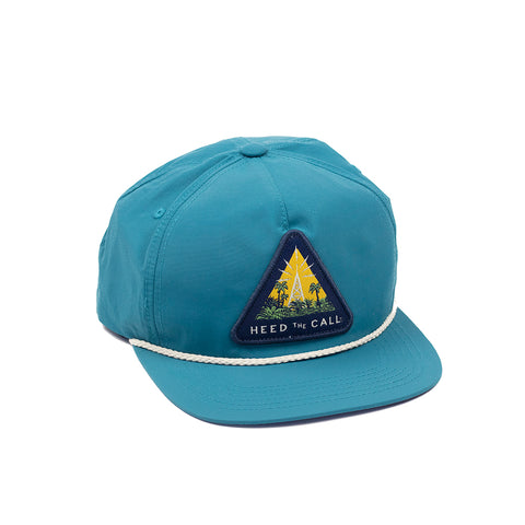 Radio Tower Snapback - Nylon Teal