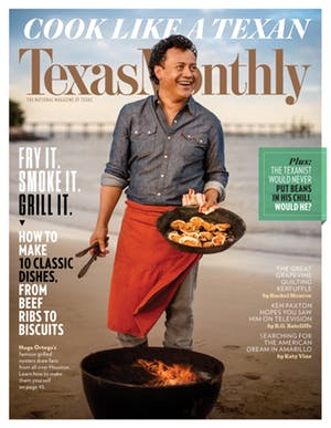 Cover of Texas Monthly December 2016