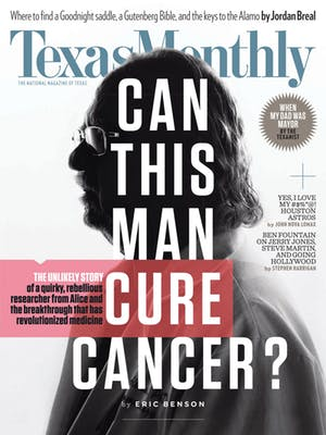 Cover of Texas Monthly November 2016