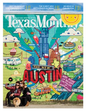 Cover of Texas Monthly March 2016
