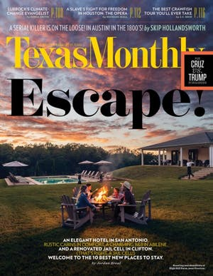 Cover of Texas Monthly May 2016