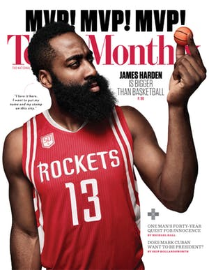 Cover of Texas Monthly April 2017
