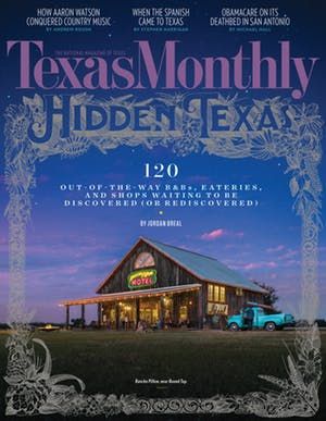 Cover of Texas Monthly March 2017