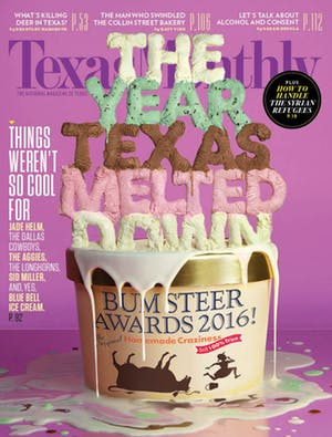 Cover of Texas Monthly January 2016