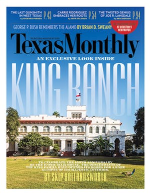 Cover of Texas Monthly February 2016